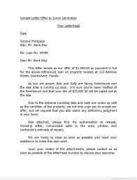 Offer Business Letter by Printable Sample Letter Offer To Junior Lienholder Template 2015