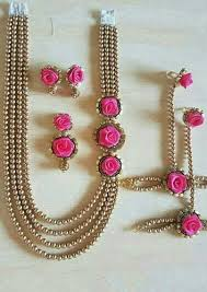 flower jewellery artificial flower jewellery at rs 750 set 3 dimensional flower
