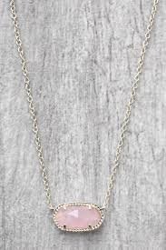 rose quartz rose necklace images Kendra scott elisa rose quartz integrated necklace south moon under jpg