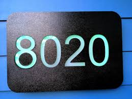 Lighted House Number Sign Led House Numbers Change Color Daily Arduino Powered 7 Steps