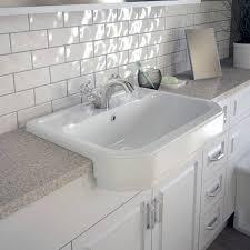 semi recessed bathroom sinks semi recessed basins buying guide victoriaplum com