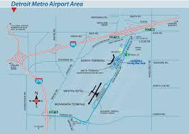 Michigan Area Codes Map by Detroit Metro Airport Area Map U2022 Mapsof Net