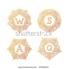 monogram letter monogram letters stock images royalty free images vectors