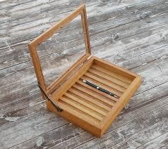 pen box pen holder wood pen holder for desk pen case pen