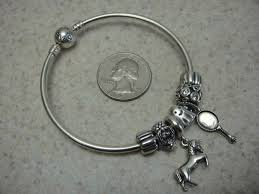 bangle charm bracelet sterling silver images 925 sterling silver bangle charm bracelet w pandora charms big jpg