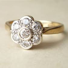 flower engagement ring vintage 19 engagement rings 700 engagement and ring