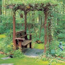 how to build a bench with an arbor sunset