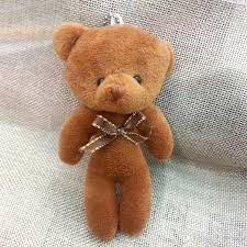 2017 bulk 12cm stuffed animals plush mini teddy with bow mini