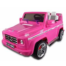 pink mercedes amg mercedes benz g55 ride on suv car 12v pink
