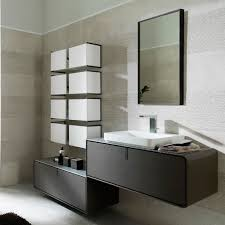 wall hung washbasin cabinet wooden contemporary with drawers