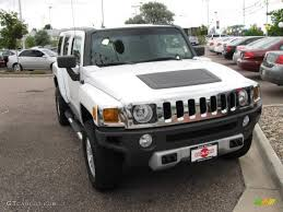 hummer jeep white 2008 birch white hummer h3 14711310 gtcarlot com car color
