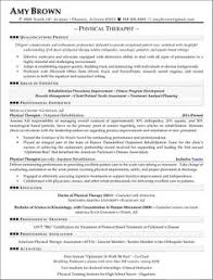 shocking ideas physical therapy resume sample 8 professional