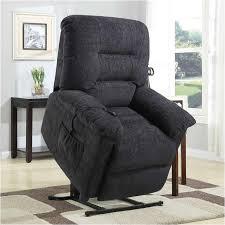 modern paris black bonded leather recliner club chair walmart com