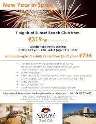 new year in spain gala dinner at sunset club malaga