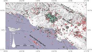 San Gabriel Map Bssa 102 3 Electronic Supplement To Yang Et Al