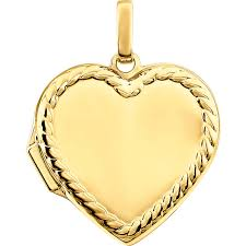 rope necklace pendant images Heart with rope border 14k yellow gold memorial locket necklace jpg