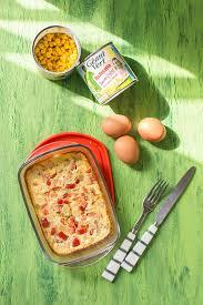 recette de cuisine facile et rapide pour le soir recette de flan de légumes maïs géant vert et poivrons stella