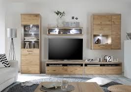 Wohnzimmerschrank In Eiche Wohnwand Asteiche Bianco Teilmassiv Empero2 Designermöbel