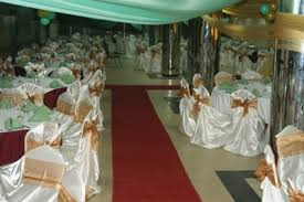 hall decoration with chairs covered for 300 guest just n75 000