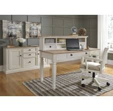Home Office Credenza Sarvanny Two Tone Home Office Large Credenza With Hutch For