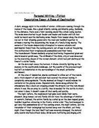 sample of descriptive essay about a place Template  sample of descriptive essay about a place Template
