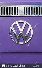 volkswagen hippie van front vw volkswagen camper van front end with chrome badge stock photo