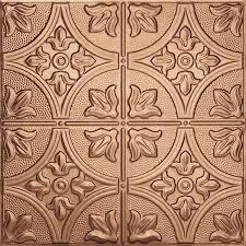 pl19 faux pressed tin ceiling tiles fleck copper colour interior