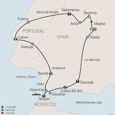 Iberian Peninsula Map Spain Portugal U0026 Morocco Tours Globus Tour Packages