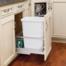 trash cans for kitchen cabinets rev a shelf double soft close pull out 35 qt trash can hayneedle