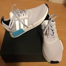 adidas nmd light blue adidas shoes nmd whitegrey and light blue poshmark