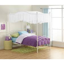 fingerhut kimball kids twin white 4 poster bed with canopy