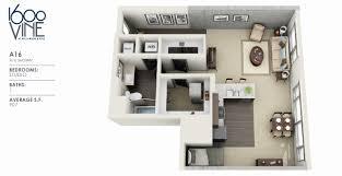 studio apartments for rent los angeles 1600 vine