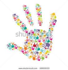 colorful baby handprint vector stock vector 199505333