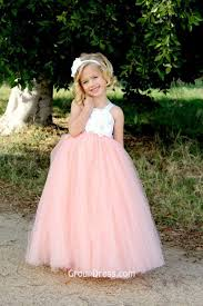 pink dress for wedding beautiful white and pink two tone tulle flower dress for