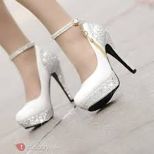 chaussure de mariage chaussure de mariage ou mariée blanche fenmme pas cher fr tidebuy