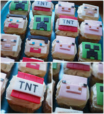 square cupcakes minecraft party ideas cake cupcakes party favors