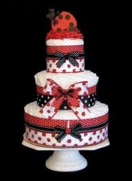 baby shower diaper cake ideas ladybug diapers and cake