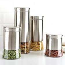 ksp silo flared canister set kitchen stuff plus