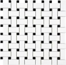 basketweave tile prima tile retro mosaic basketweave white with