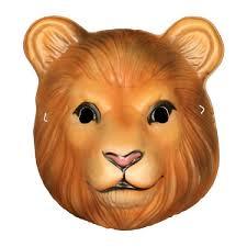 child lion mask plastic king tiger zoo animal halloween costume