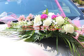 Decoration Florale Mariage Décoration De Voiture Pour Le Mariage Fleuriste Au Fil Des Fleurs