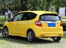 rear wing car spoilers for honda fit jazz 2009 2013 primer