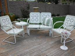 Antique Metal Patio Chairs Awesome Retro Metal Patio Furniture The Kienandsweet Furnitures