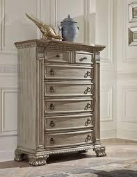 Bedroom Furniture White Washed Von Furniture Orleans Ii White Wash Bedroom Set
