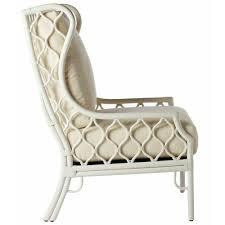 Moroccan Chair Moroccan Rattan Wing Chair White Scenario Home