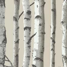 irvin gray birch tree wallpaper rustic wallpaper by brewster