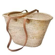 natural baskets wholesale from morocco leather handles natural