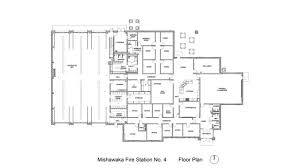 Fire Station Floor Plans In Quarters Mishawaka In Fire Station No 4 Fire Station