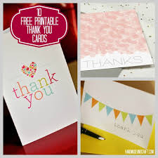 free cards 10 free printable thank you cards on handmadeandcraft