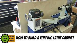 how to make a space saving flipping lathe cabinet youtube